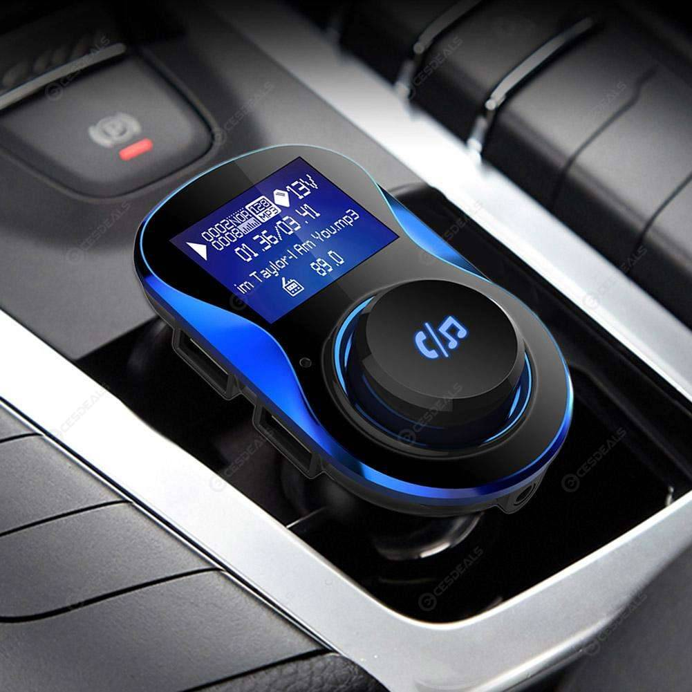 BC28 Car Bluetooth Hands-free MP3 Player FM Transmitter Dual USB Charger