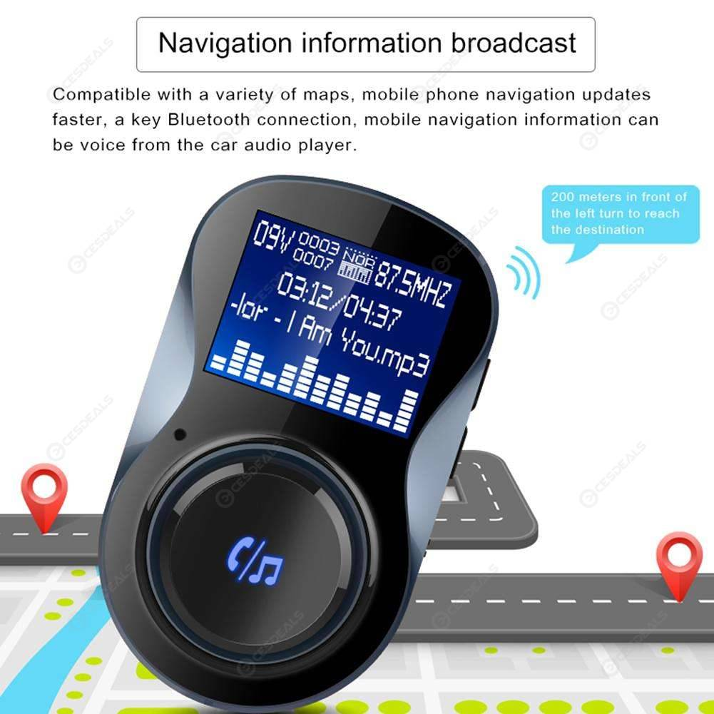 BC30 Car Bluetooth Hands-free MP3 Player FM Transmitter Dual USB Charger
