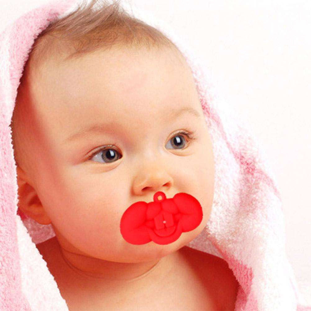 Silicone Lip Kiss Funny Nipple Dummy Baby Soother Baby Pacifier Care Teether