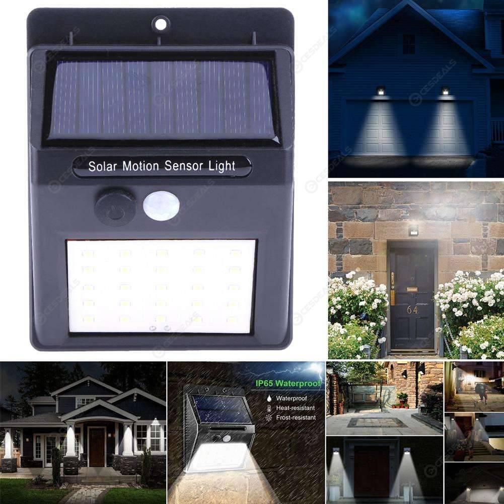 2pcs Solar Powered 25LED Outdoor Wall Lamps Waterproof Motion Sensor Lights