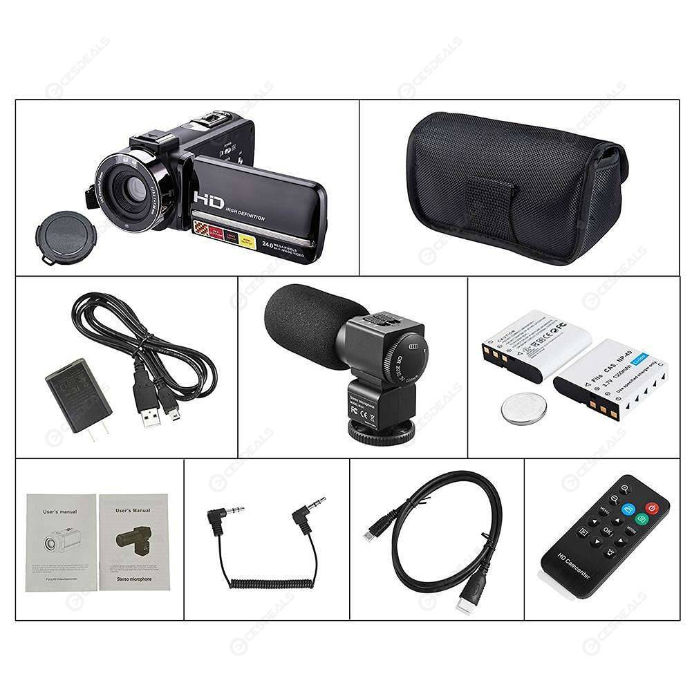 Remote Control IR Night Vision 1080P 24MP 16X Digital Zoom Camera Camcorder