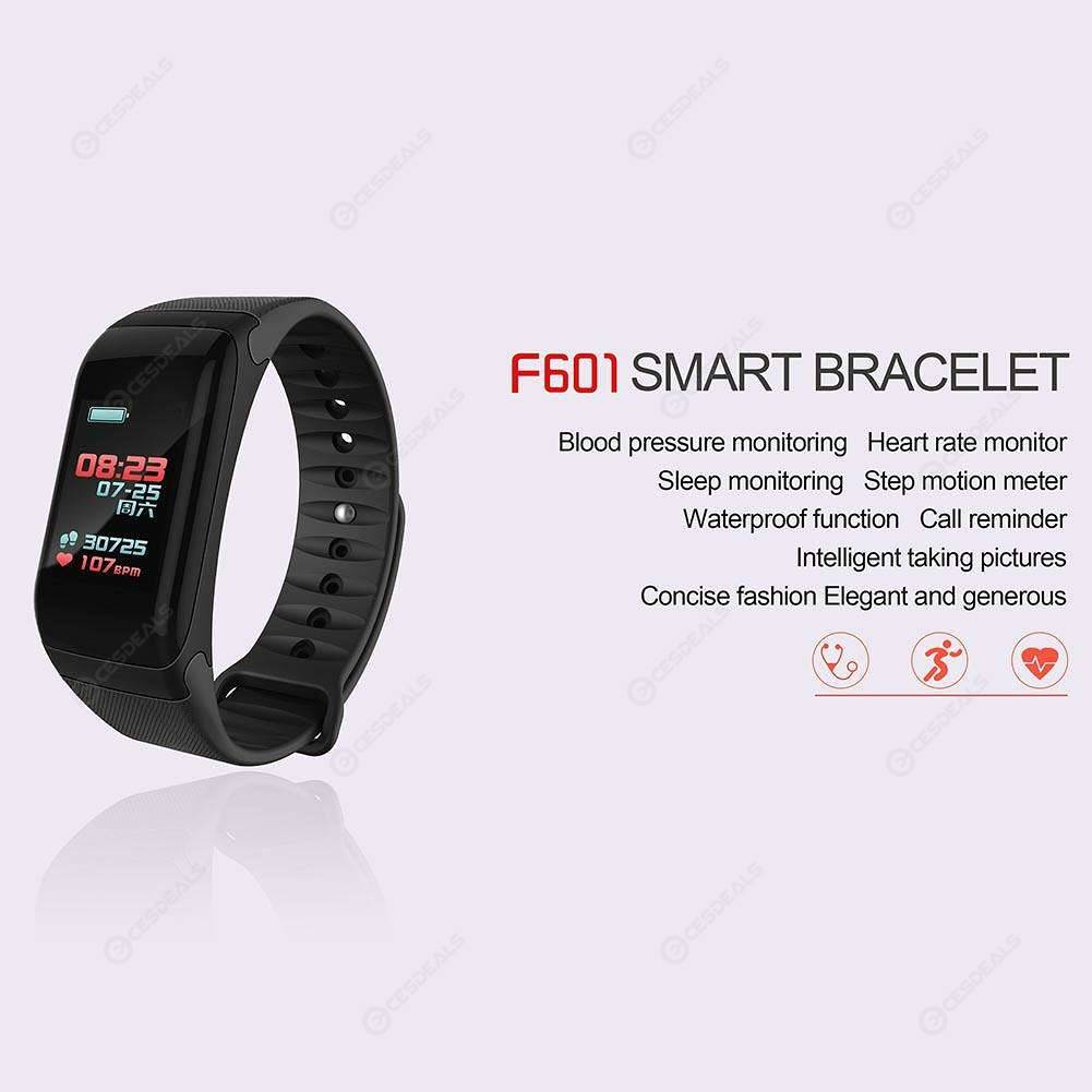 F1 Plus Smart Wristband Blood Pressure Heart Rate Monitor Bracelet(Black)