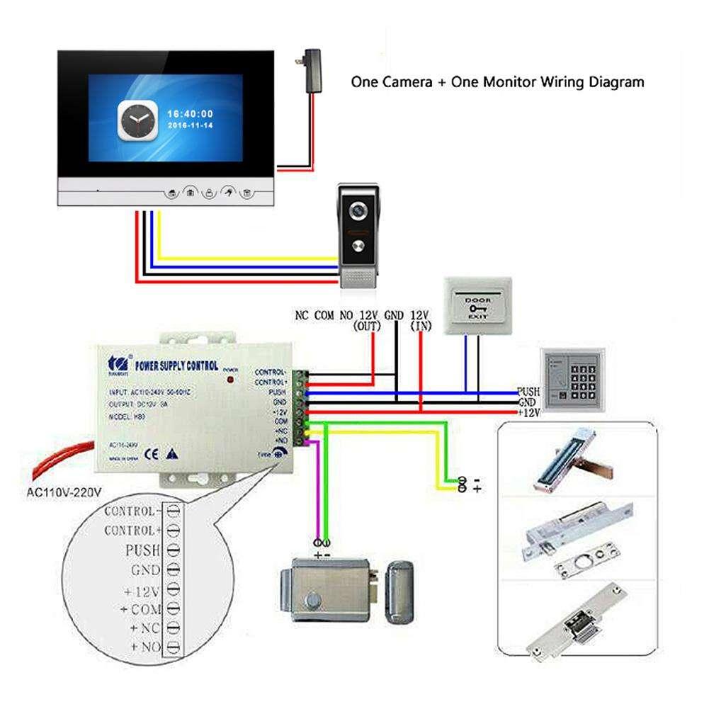 Video Doorbell Intercom Wiring Diagram on