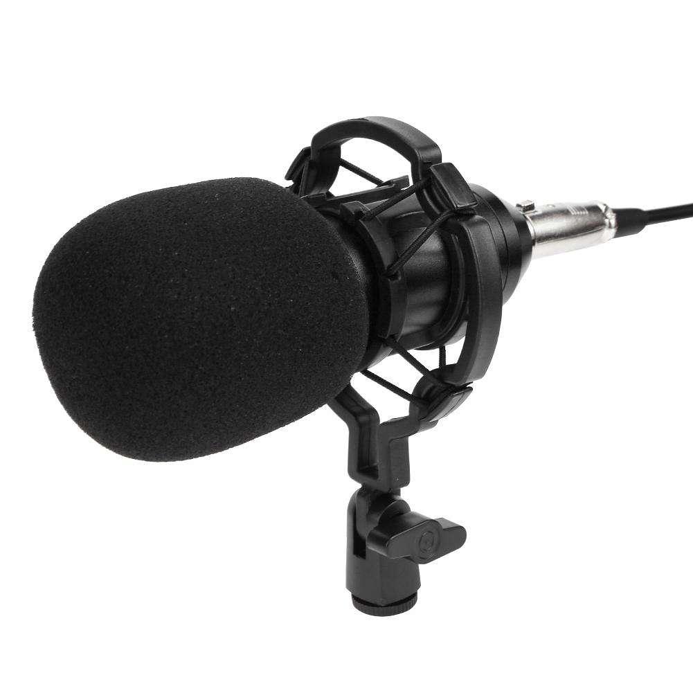BM800 Dynamic Condenser Wired Microphone Sound Studio for Singing(Black)