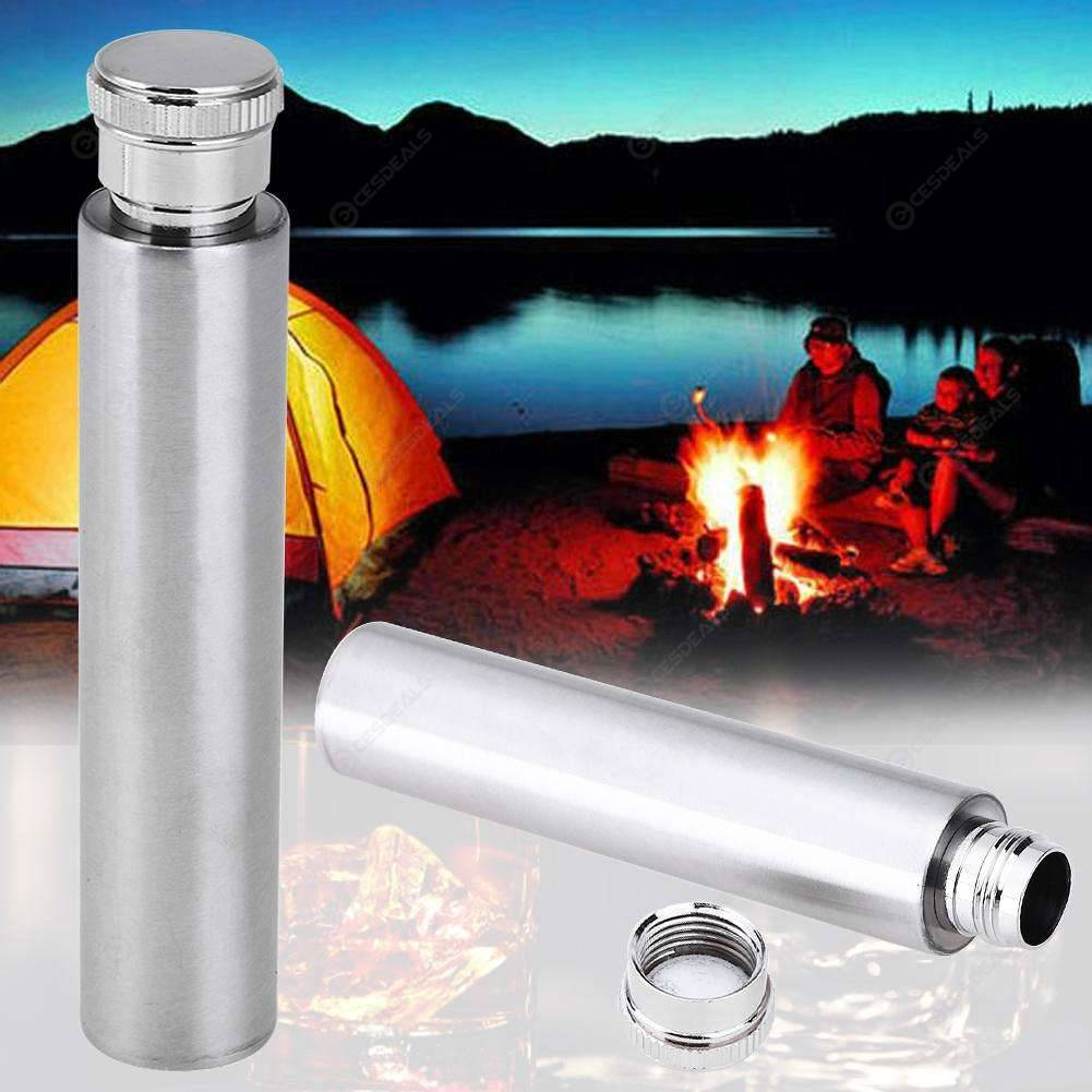 Купить со скидкой Stainless Steel Wine Pot Hip Flask ​Whisky Flagon Fishing Alcohol Bottle