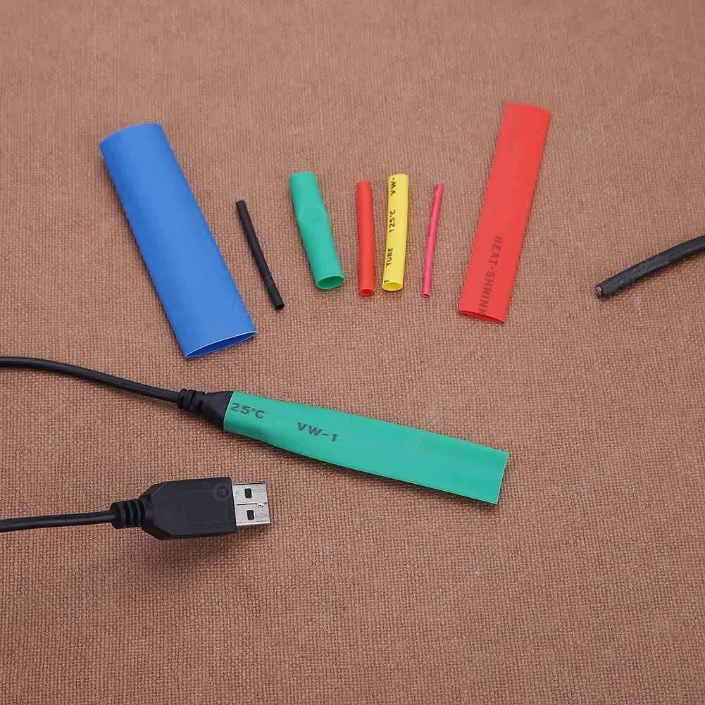 328pcs/set 5 Colors 8 Sizes Insulation Assorted 2:1 Heat Shrink Tubing Wrap