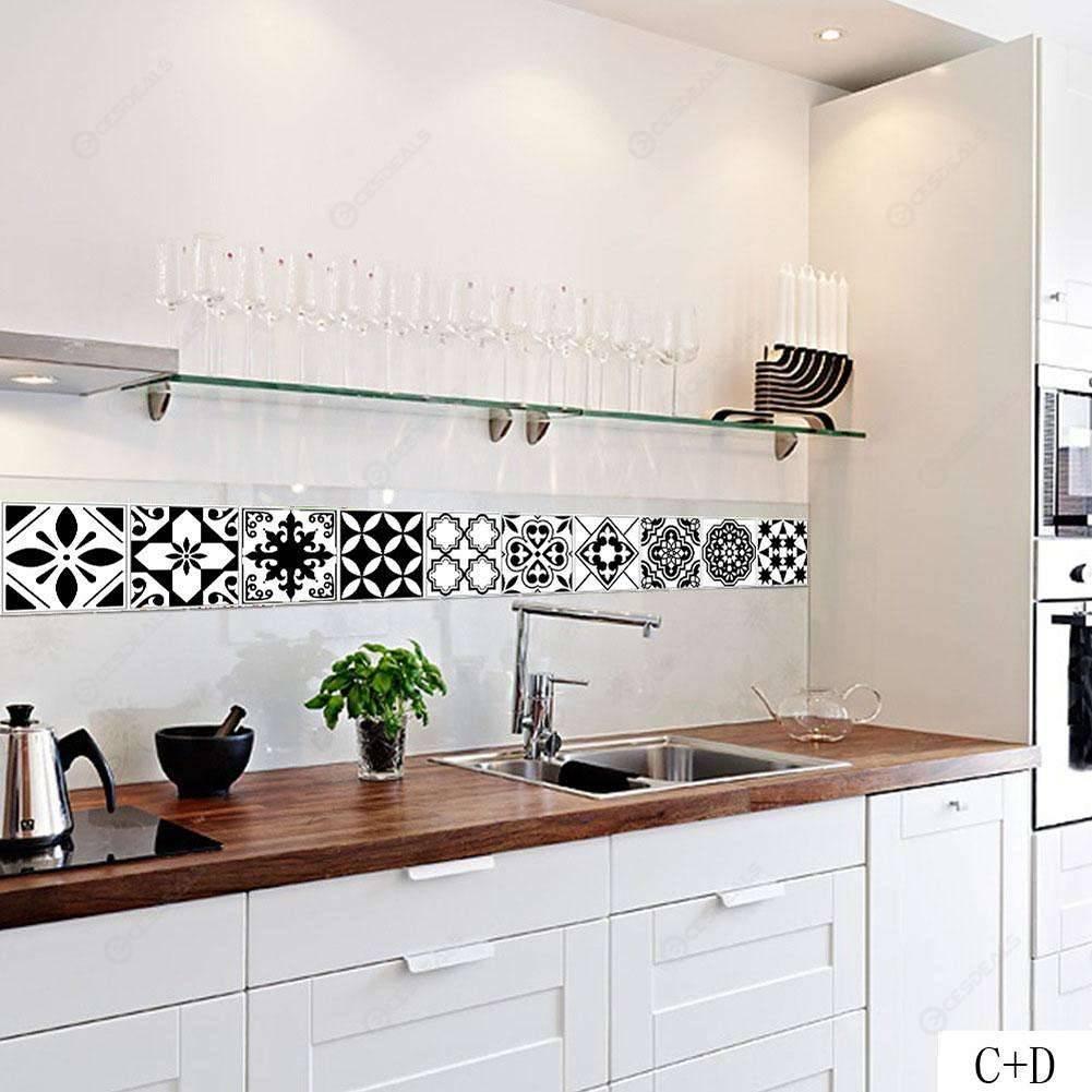 Adesivi Parete Cucina.Nordico Impermeabile Pvc Piastrelle Autoadesive Adesivi Parete Decalcomania Arredamento Cucina