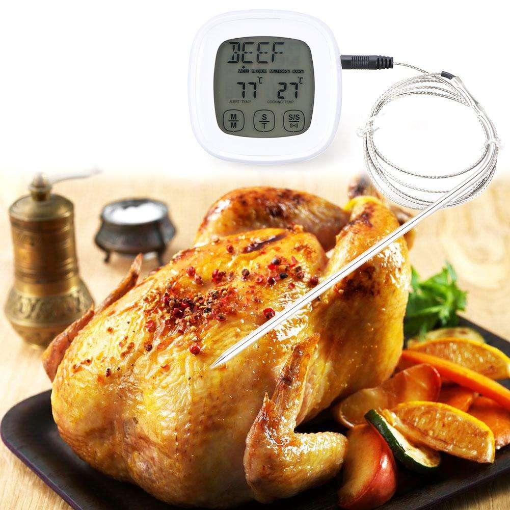 Sonda termómetro digital de alimentos LCD Temperatura Kitchen Cooking Barbacoa Carne de Pollo