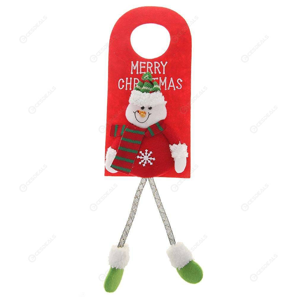 Merry Christmas Cartoon Dolls Fabric Door Hanging Ornaments Home Decor A