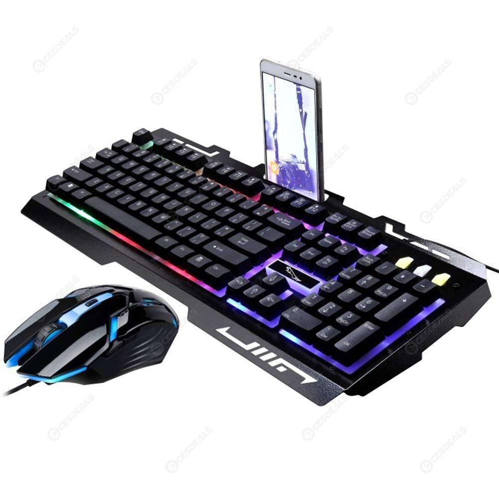 90bd3e117ce G700 USB Kabel mechanische Feel Tastatur + optische Gaming-Maus (Gold) Set-  US$26.48Online Einkaufen | cesdeals.com