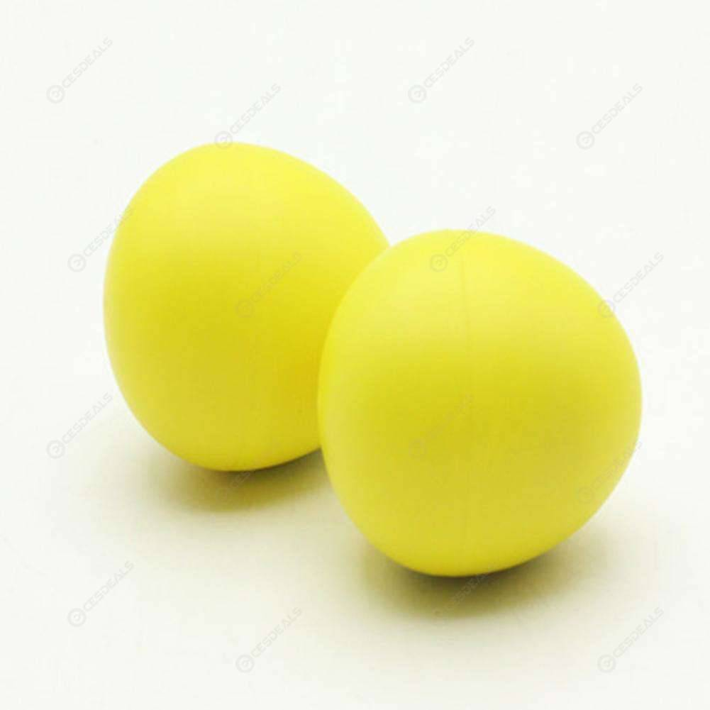 2pcs Educational Plastic Drums Musical Egg Maracas Shakers Hammer (Yellow)