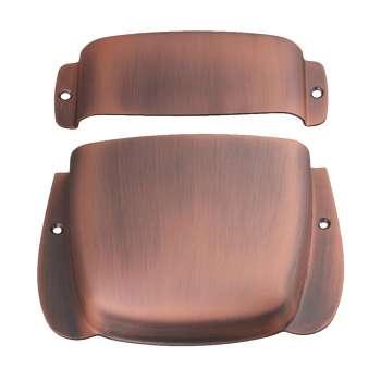 short guitar pickup bridge plate cover set protector for pb bass bronze us online. Black Bedroom Furniture Sets. Home Design Ideas