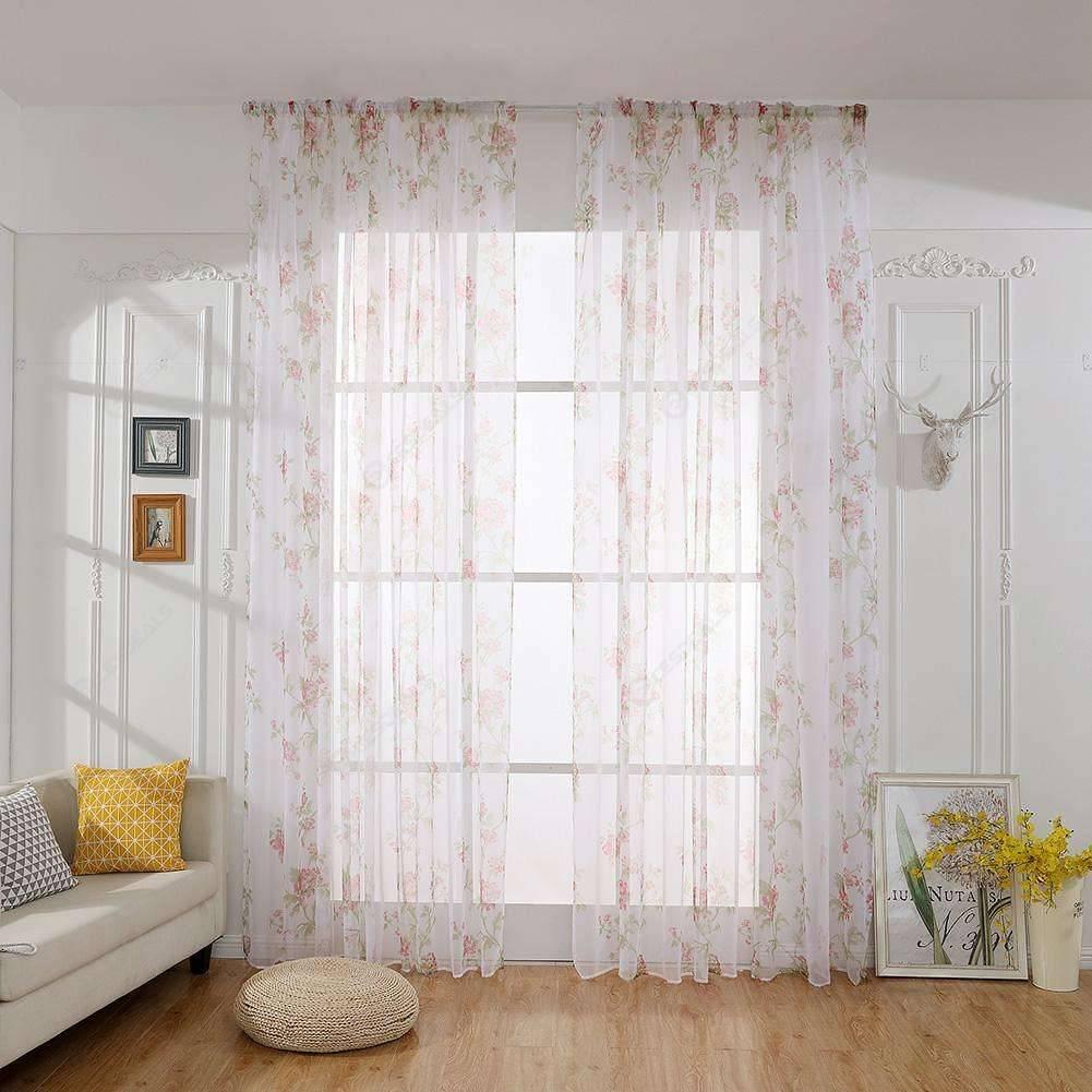 Verdunkelung Gardinen Blumendruck wohnen Schlafzimmer Fenster Vorhänge  Vorhang (rot)