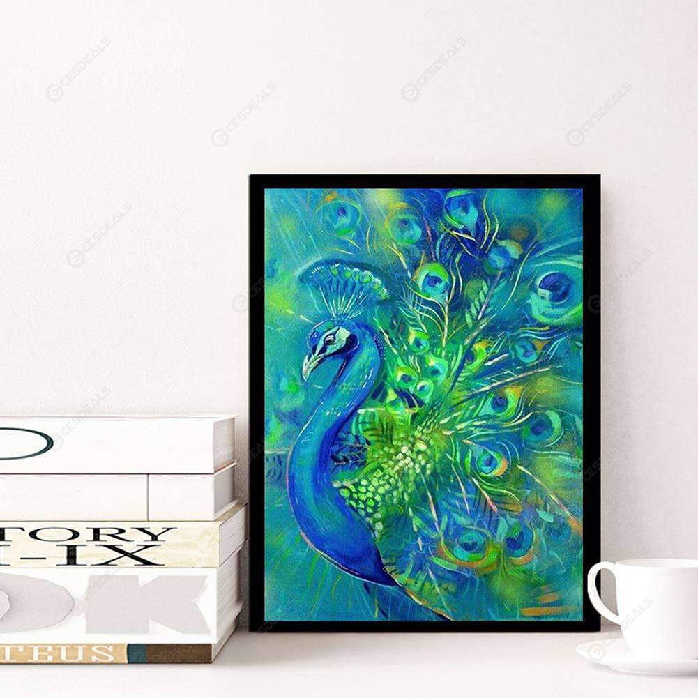5D DIY Full Drill Diamond Painting Peafowl Cross Stitch Embroidery Mosaic