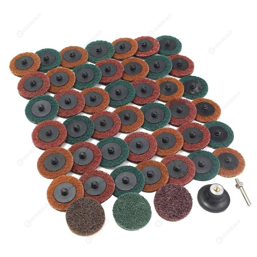 45pcs Scouring Pad Grinding Polishing DIY Angle Grinder Rotary Lock Disc