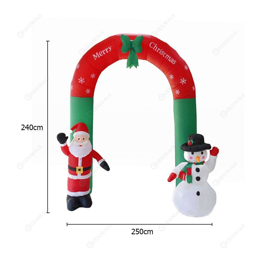 Inflatable Arch Santa Claus Snowman Christmas Outdoors Ornaments Shop Decor