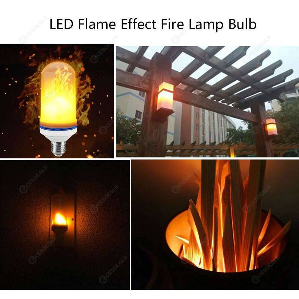 Led Flame Effect.96 Led E27 Flame Effect Light Blub 3 Mode Fake Fire Flicker Emulation Lamp