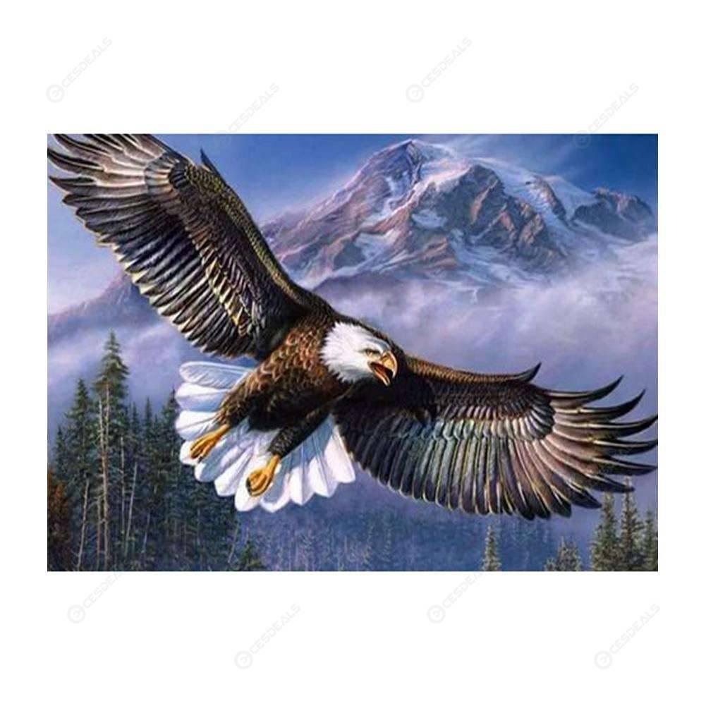 5d Diy Completo Broca Diamante Pintura águia Asas Kit De Ponto Cruz 40x50cm