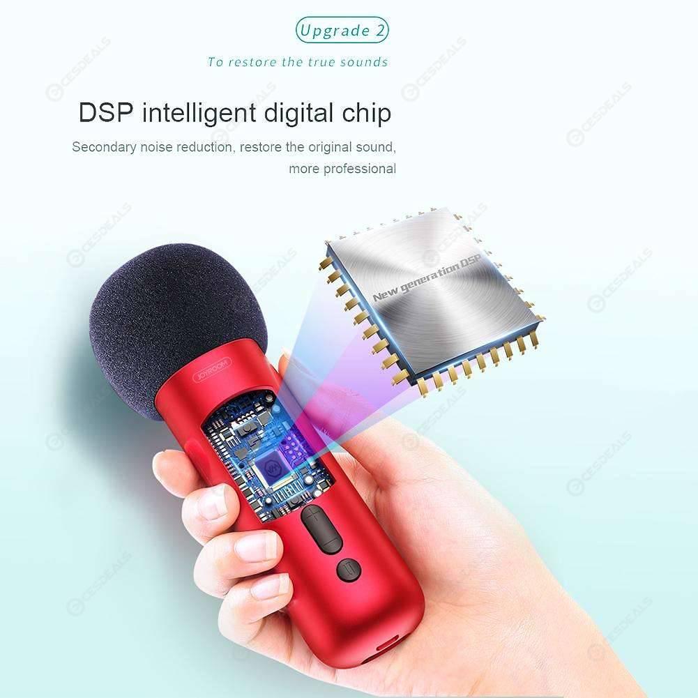 JOYROOM K1 Handheld Karaoke Microphone Cardioid Capacitive+DSP Mic (Red)