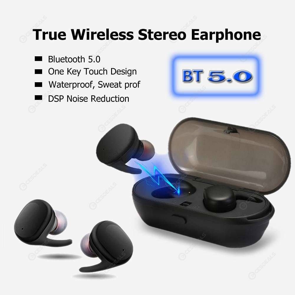 Wireless Bluetooth5.0 Mini Twin TWS Waterproof Touch Sport Earbuds Earphone