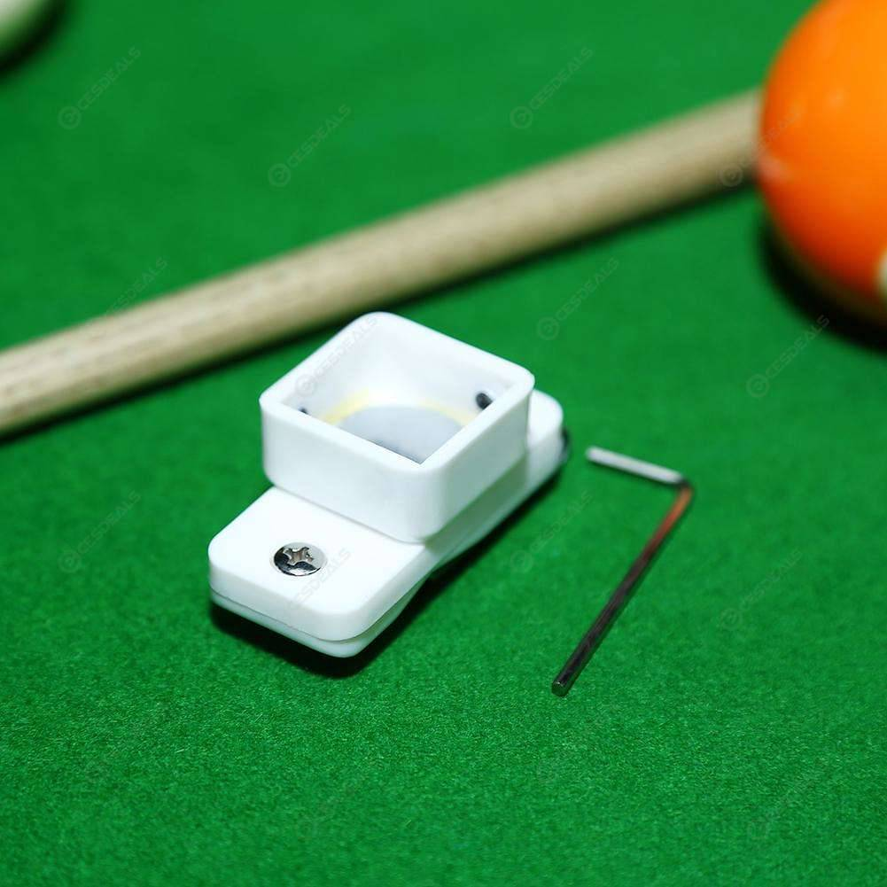 Magnetic Snooker Billiards Pool Table Cue Chalk Holder with Belt Clip Silver