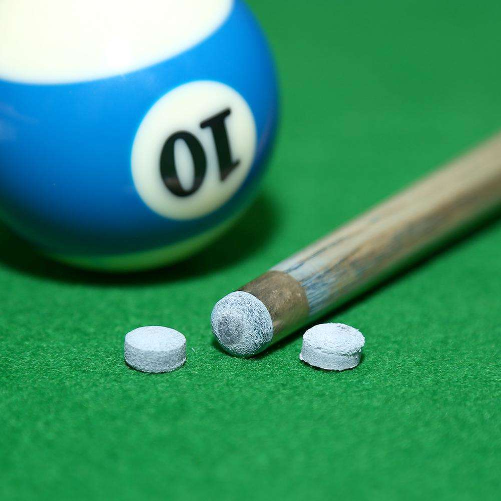 50pcs Glue-on Pool Snooker Cue Tips Billiards Stick Accessories Grey (10mm)