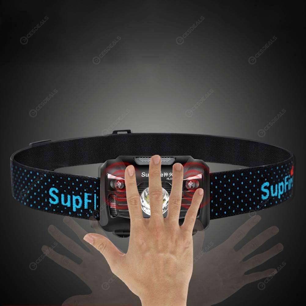 SupFire HL06 USB Rechargeable XPE-R5 Sensor Headlight 4 Modes Headlamp Lamp