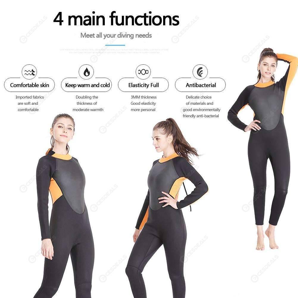 95a9b719da Women One-piece Wetsuit Neoprene Scuba Diving Suit Surfing Swimwear (XXXL)