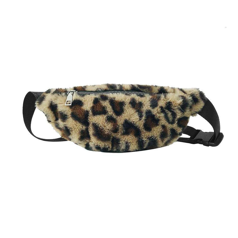 Women Leopard Waist Fanny Pack Girl Money Pouch Belt Wallet Purse Chest Handbags