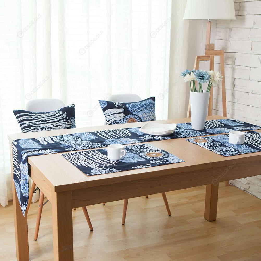 Cotton Print Place Mat Dinner Table Heat Proof Mats Bowl Plate Pads Coaster