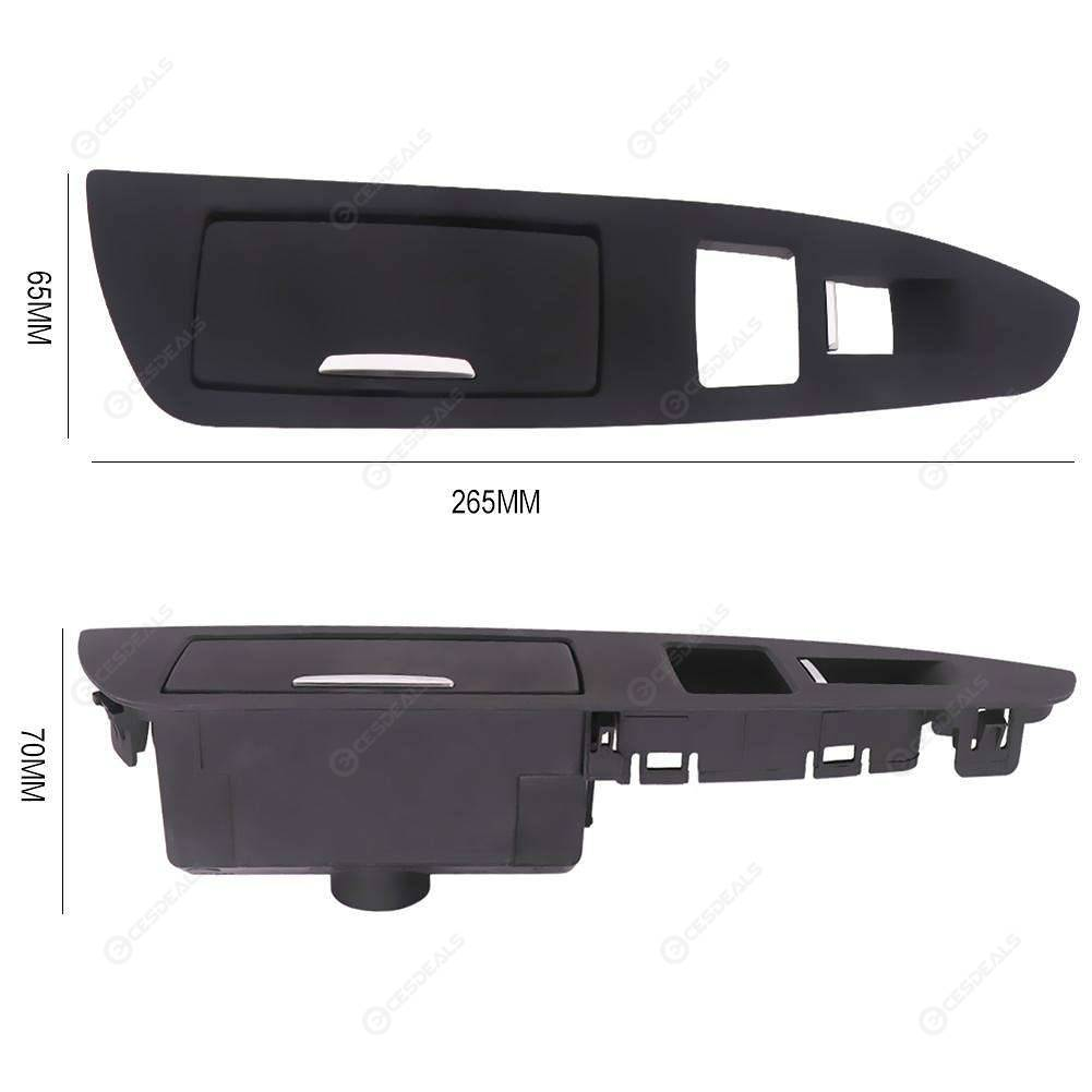 Rear Left Interior Door Ashtray Switch Trim Panel for 7 Series F01 (Black)