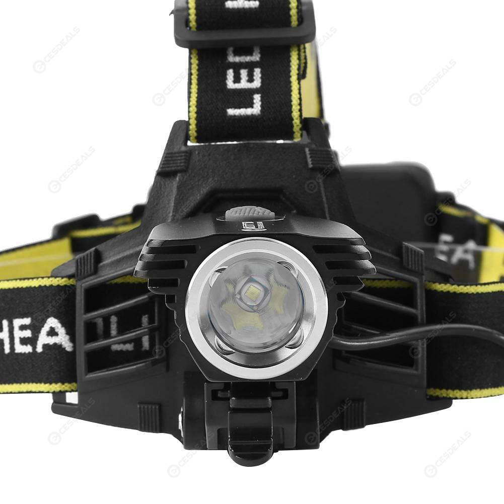 T6 LED Headlamp Rechargable Headlight Waterproof Head Torch Flashlight