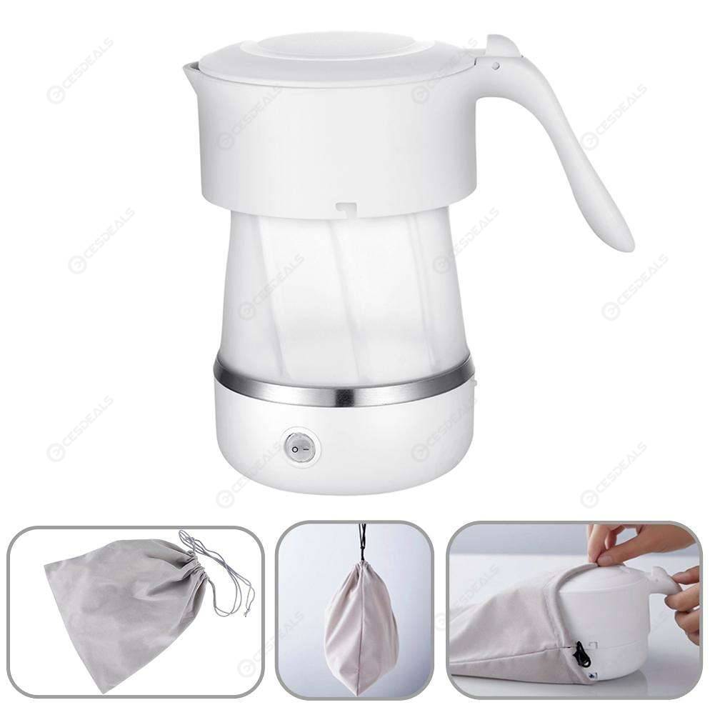 Electric Kettle Mini Folding Portable Travel Kettle Silicone Water Boiler