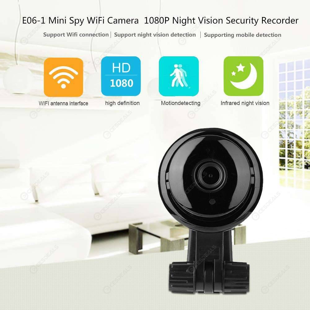 E06-1 Mini WiFi 1080P IR Night Vision IP Camera Home Security Nanny Cam