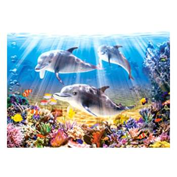 5D DIY Full Drill Diamond Painting Sea Dolphin Cross Stitch Embroidery Kits