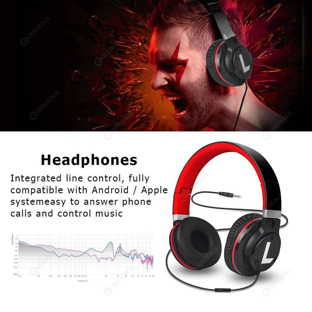 M2 3 5mm Wired Headphones Headset Foldable Music Gaming Earphones (Black)