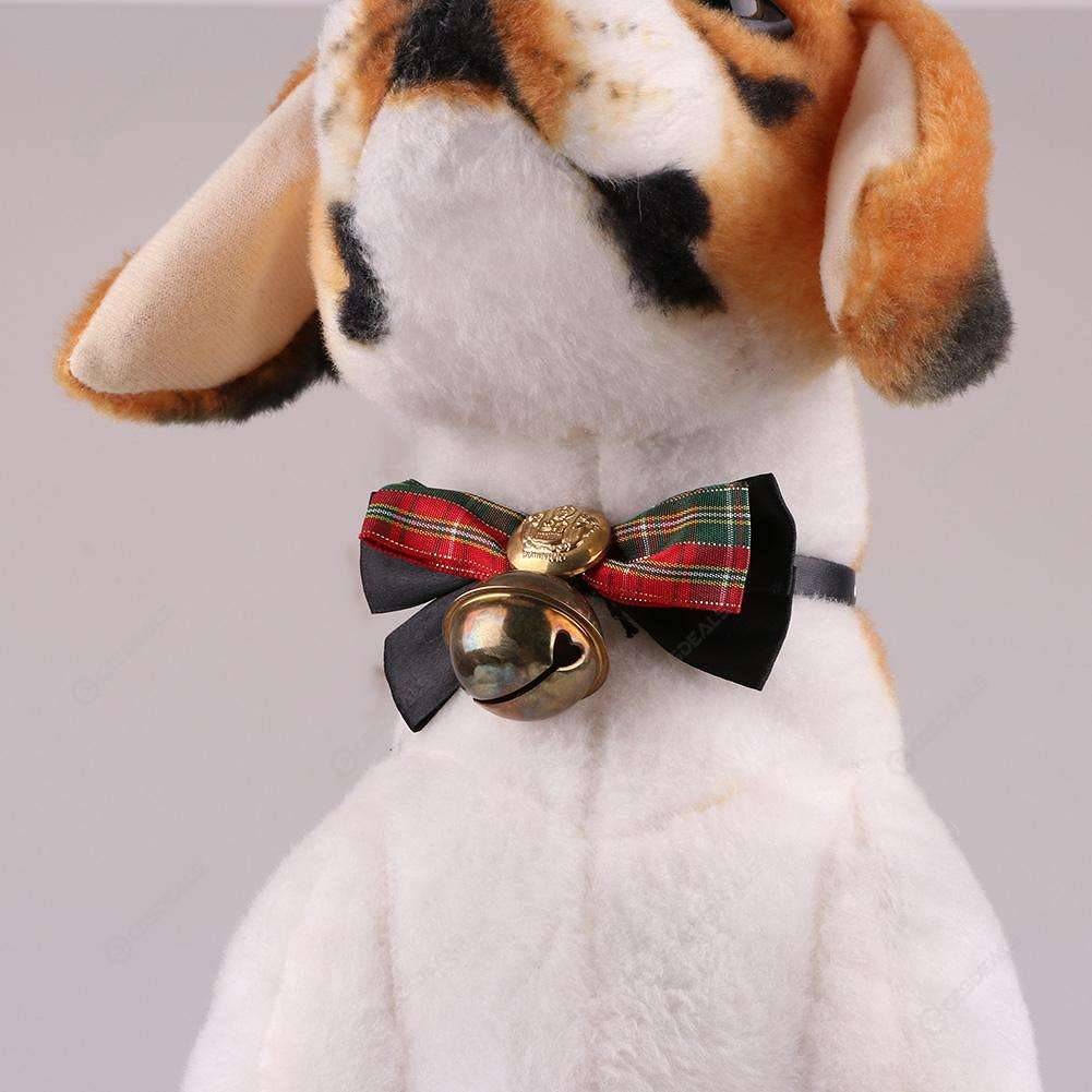 f2af338e9 Adjustable Leather Dog Pet Bowknot Bell Collars Puppy Cats Necktie (1 XS)  ...