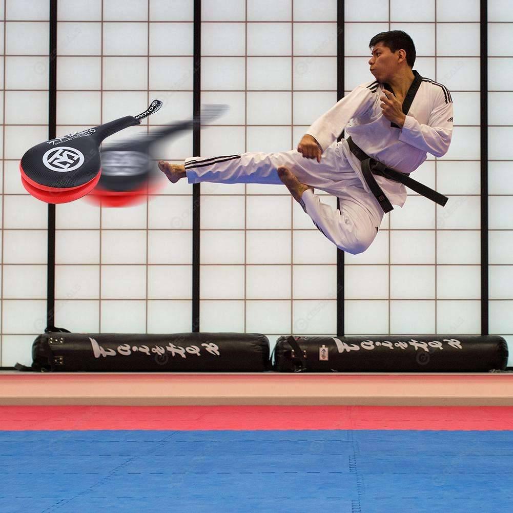 Kid Taekwondo PU Rebound Sponge Double Kick Pads Target for Tae Kwon Do Training