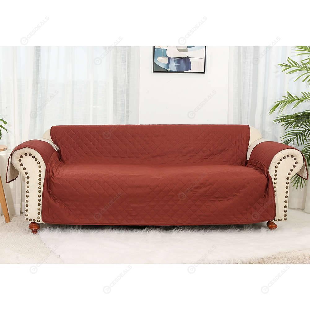 Swell Three Person Sofa Cover Sofa Slipcover Pet Dog Kid Mat Cushion Light Brown Dailytribune Chair Design For Home Dailytribuneorg