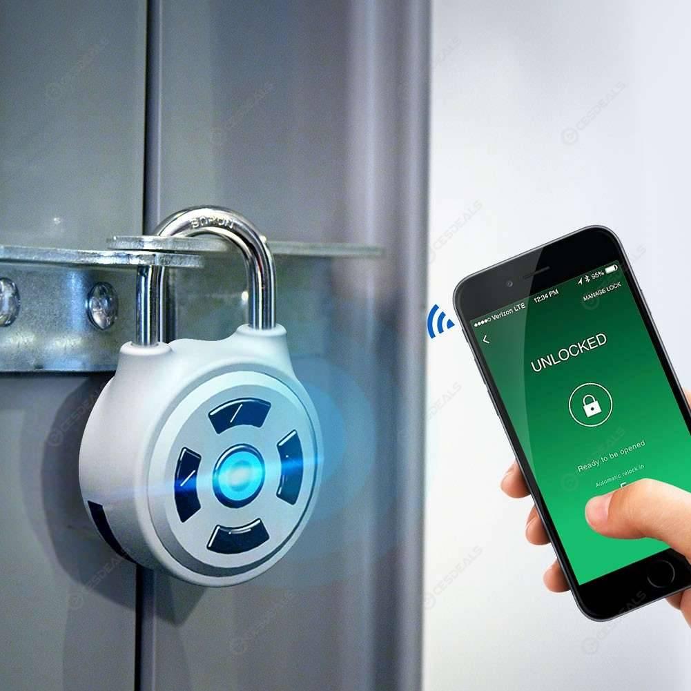 Mot De Passe Bluetooth Cadenas Digicode Sans Fil Sans Cle App Control Us 19 99 Shopping En Ligne Cesdeals Com