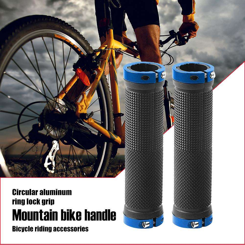Bicycle Handlebar Grips Handle Rubber Non Slip Cycling Scooter Mtb Bike Pads