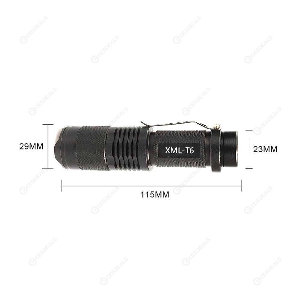 Exploration Beauty TM-015 Mini 800LM T6 LED Flashlight Zoomable Torch (A)