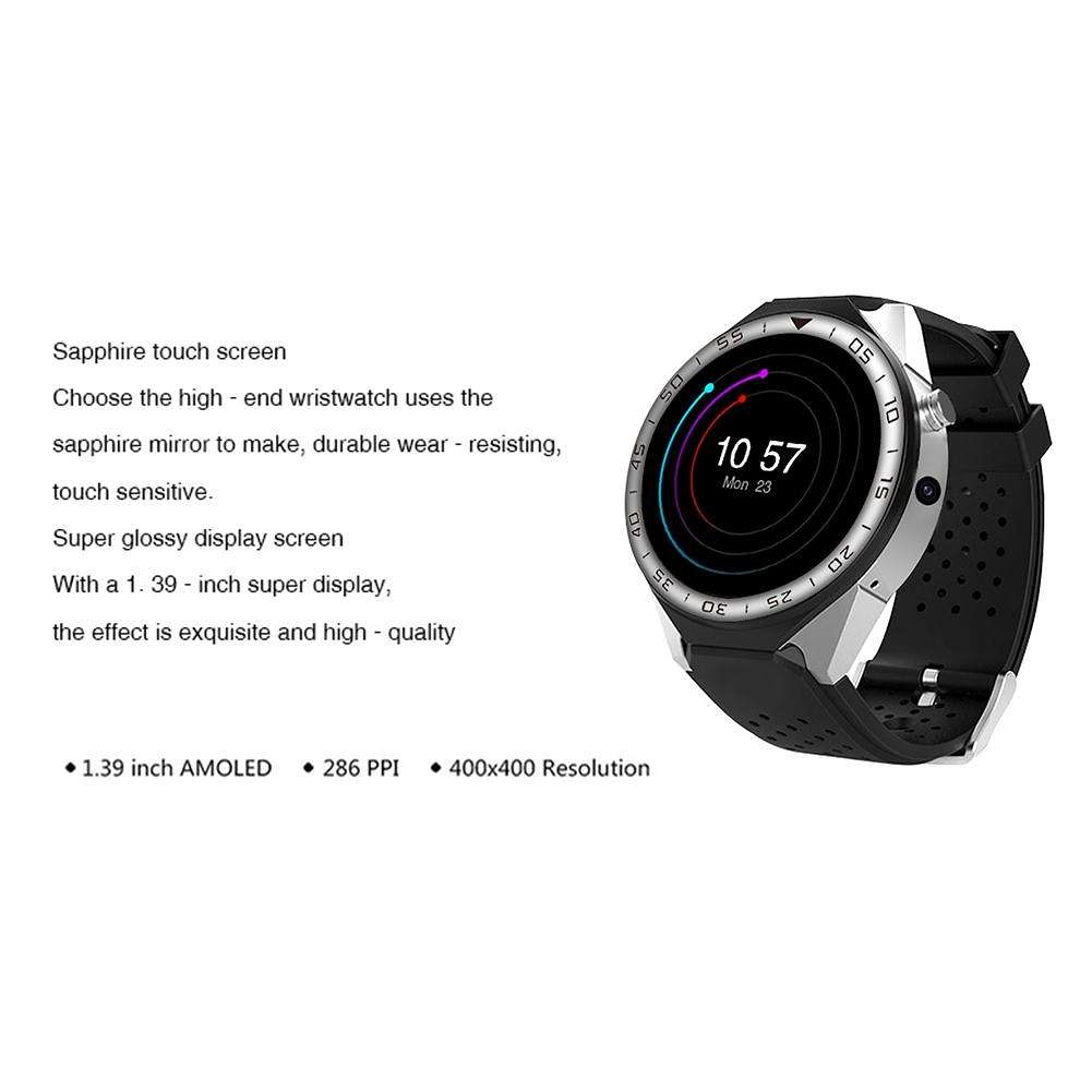 S99C 1G+16G Support SIM Card 3G WIFI GPS Smartwatch Phone (Silver)