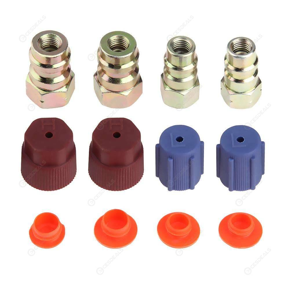"""Low Side 1//4/"""" 1 R-12 to R-134A Steel Conversion Fittings 1 High Side 3//16/"""""""