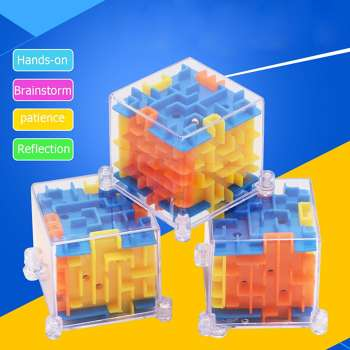3D Maze Magic Cube Toy Labyrinth Rolling Puzzle Game Kid Educational Toys