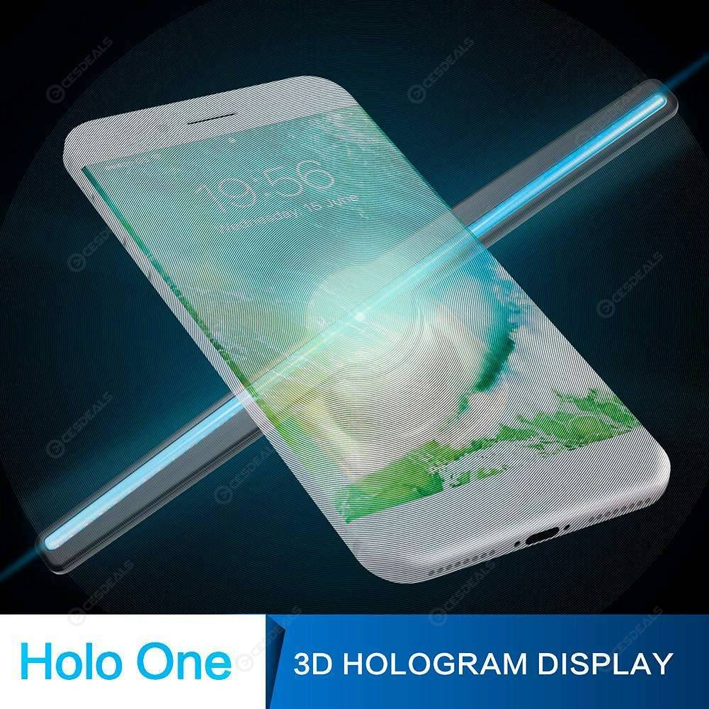3D Hologram Projector LED Holographic Advertisement Display Fan (Black US)
