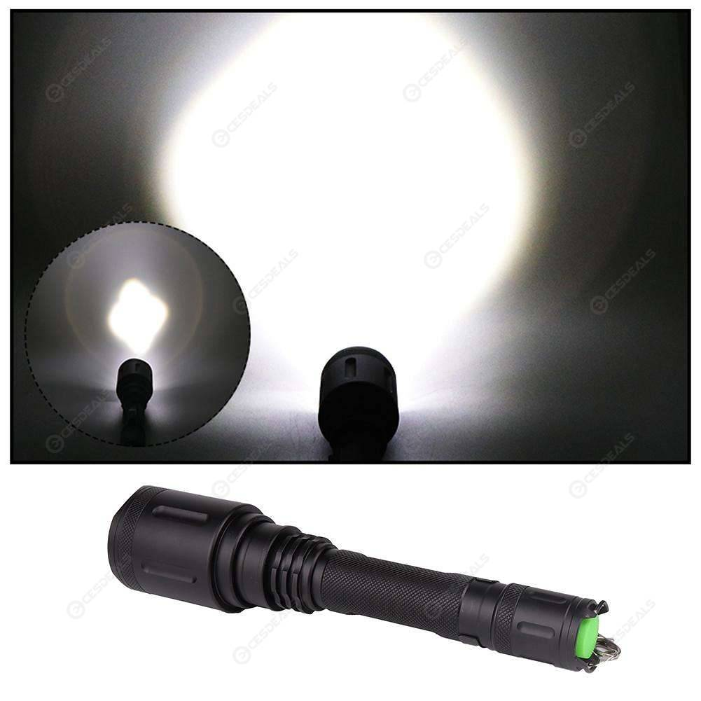 DC Waterproof LED 2000LM Zoom Torch 5 Modes Flashlight Lantern for Camping
