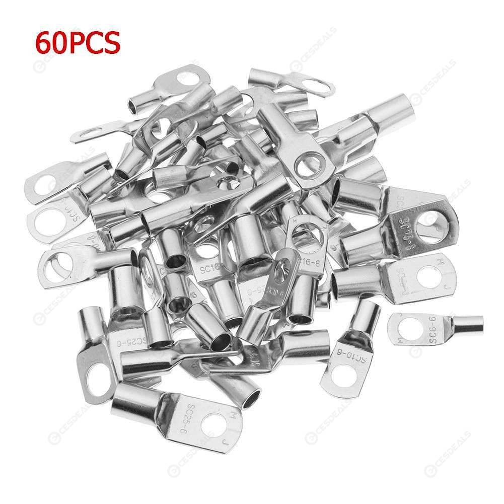 60pcs Copper Assorted Crimp Terminals Wire Cable Soldered Sleeve Connector