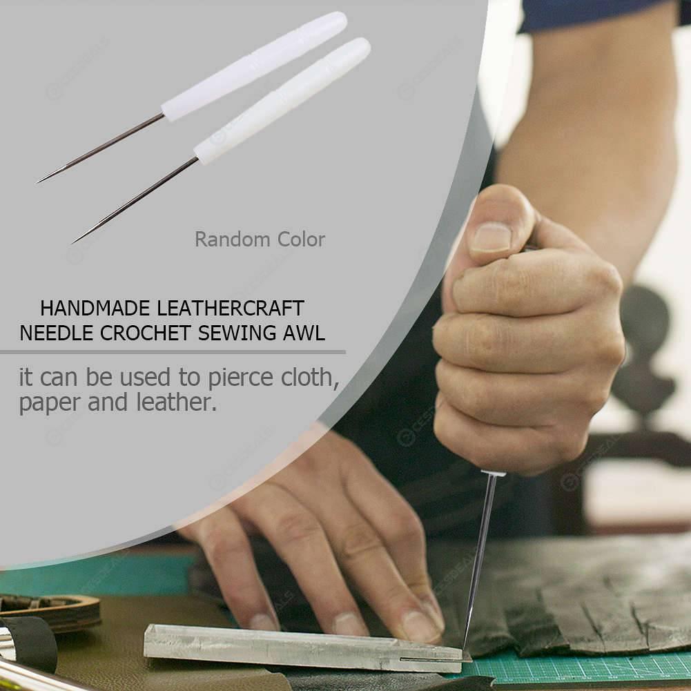 Plastic Handle Handmade DIY Leathercraft Needle Crochet Sewing Awl Tools
