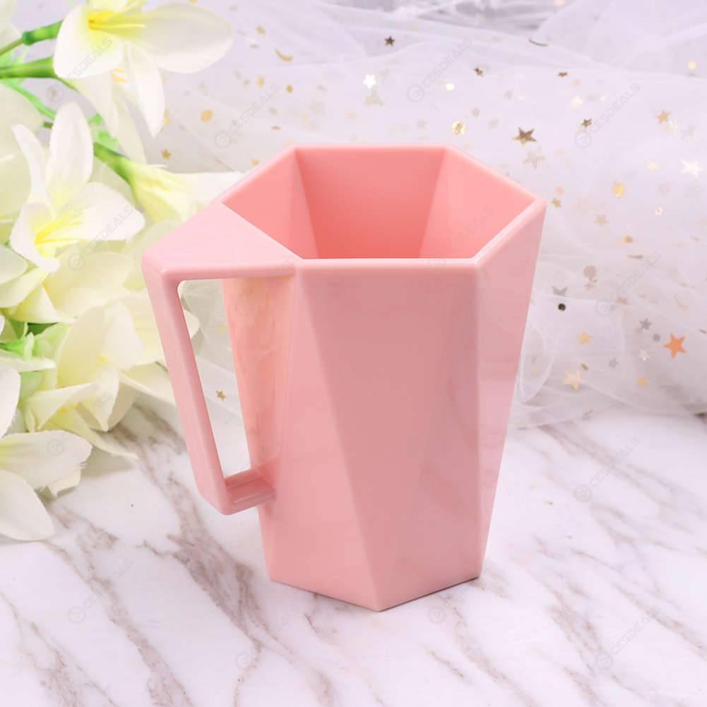 Creative Geometric Bathroom Tumblers Mugs Couple Milk Drink Toothbrush Cups